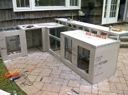 how to build an outdoor kitchen with cinder blocks home design ideas island cabinets within decorating