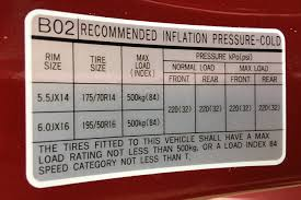 Tire Air Pressure Chart By Size Hyundai Accent Tyre Pressure Carsguide