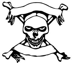 Skull And Crossbones Printable Cash Coloring