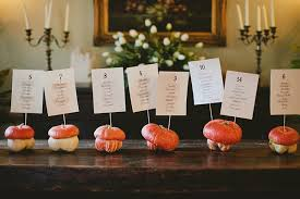 fall wedding place card holders. gourd sign holders fall wedding place card o
