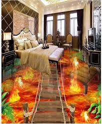 3d wallpaper custom 3d flooring painting wallpaper murals flame to draw 3 d floor tile living
