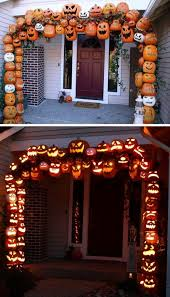diy halloween lighting. Awesome DIY Fall Jack-o-lantern Arch Made From PVC And Foam Pumpkins! Diy Halloween Lighting T