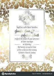vine baroque style wedding invitation card template elegant vine baroque style wedding invitation card template elegant