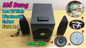Khám Phá Linh Kiện Chiếc Loa Vi Tính Bluetooth Enkor F200 2.1, Giá 1 Triệu  Có Gì ? - YouTube