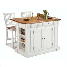 leaf kitchen cart: home styles kitchen island amp stools white amp distressed oak