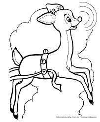 Small Picture Rudolph the Red Nose Reindeer Coloring Page Rudolph leads the