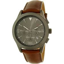 michael kors men s gareth brown leather chronograph watch mk8471 com