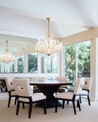 Contemporary Round Dining Table Los Angeles Dining Tables For Room Contemporary With Gold Faux