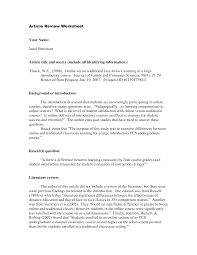 Write Article Review Apa Style How To Write A Journal Article