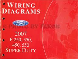 2007 ford f250 f550 super dutytruck wiring diagram manual original