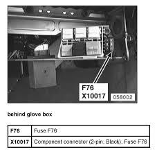 2006 Bmw 525xi Glove Box Fuse - Free Wiring Diagrams