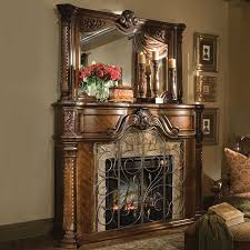 aico furniture windsor court fireplace with mirror the windsor court collection is an original furniture design from the michael amini