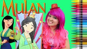 Coloring Mulan Disney Princess Giant Coloring Book Page Crayola
