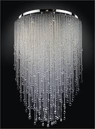 a small version of this with strung beads and or christals for my for popular household large crystal chandeliers plan