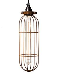 cage lighting. Rusted Long Tube Light Bulb Cage 110mm Lighting D