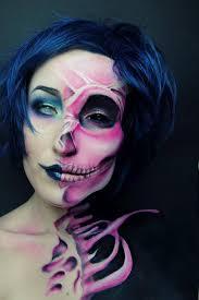 half skeleton face paint creepy tommy beauty pro skull makeup