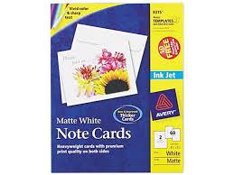 Avery 8383 Avery Note Cards For Inkjet Printers 4 1 4 X 5 1 2 Matte White 60 Pack W Newegg Com