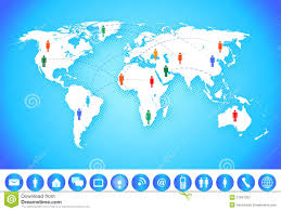 world map communication stock vector illustration of