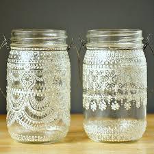 Painted Glass Jars. beautiful mason jar idea