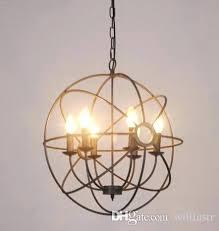 orb light chandelier hotel vintage industry lighting pendant lamp iron rustic loft gyro marais 6