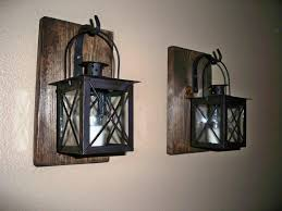 image of rustic wall sconces decor