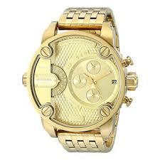 diesel watches overstock com the best prices on designer mens diesel men s dz7287 little daddy goldtone chronograph bracelet watch