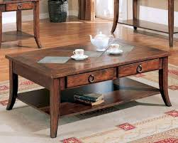 franklin coffee table with slate tile top and storage co700258 se