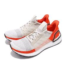 Details About Adidas Ultraboost 19 Raw White Active Orange Men Running Shoes Sneakers F35245