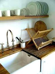 wall mount dish drying rack mounted wood plate photo 1 wooden hanging kitchen dry plastic australia