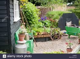 Small Kitchen Garden Small Kitchen Garden With Black Painted Shed And Edible Border