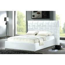 white queen size bed frame. Queen Size Bed Frame White Frames Modern Faux Leather .