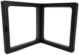 square black frame. Simple Frame Square Black 3D Floating Frame 2Sided Display Case In