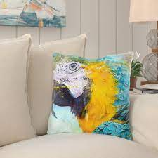 Bay Isle Home Gabriela Bird Throw Pillow | Wayfair