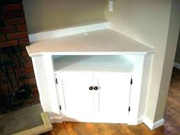 wood corner tv stand white cabinet tall media console small built in goo