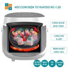 Nồi Cơm Điện Tử Rapido RC-1.2D Công nghệ Neuro fuzzy Nhật Bản 10 chức năng  nấu (1.2L - 500W - Hàng chính hãng) chính hãng 1,100,000đ