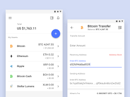 Material Design 2 0 Apps Cryptocurrency Wallet By Otakoyi On Dribbble