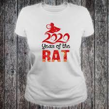 Happy New Year Shirt Design 2020 Year Of The Rat Happy New Year Chinese Zodiac Calendar Shirt