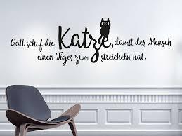 Katzen Spruch Wandtattoo Gott Schuf Die Katze Klebeheld