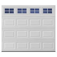 garage door windowsShop Pella Traditional 108in x 84in White Single Garage Door