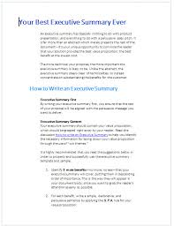 How To Create An Executive Summary In Word Writing An Executive Summary Template 892 94xrocks
