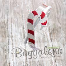 Candy Cane Applique Design Candy Cane Buggaband Design Buggaband Headband Sliders