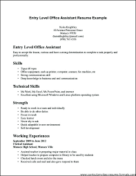 Resume Format For Office Assistant Resume For Executive Assistant