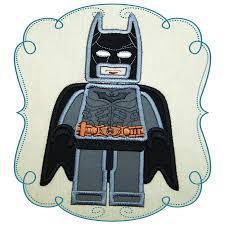 Free Batman Machine Embroidery Designs Batman Lego Applique Machine Embroidery Design