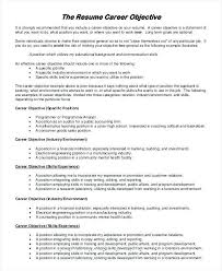 Resume Career Objective Statement Writing A Objective For Resume How to Write a Career Objective 100 99