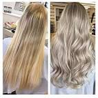 Snyggt blont hår