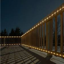 outdoor linear sign lighting. outdoor lighting projects- parameter deck project- top and bottom banister linear sign