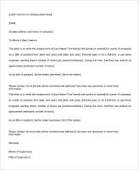 Confirmation Of Employment Letter Sample Employment Verification Letter 8 Examples In Word Pdf