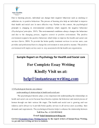 sample on psychology for health and social care by instant essay writ  11