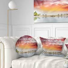 Beach Design Pillows Details About Designart Roatan Beach Sunset Panorama Seashore Photo Throw Pillow
