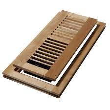 decor grates 4 in x 12 in wood natural maple flush mount floor register